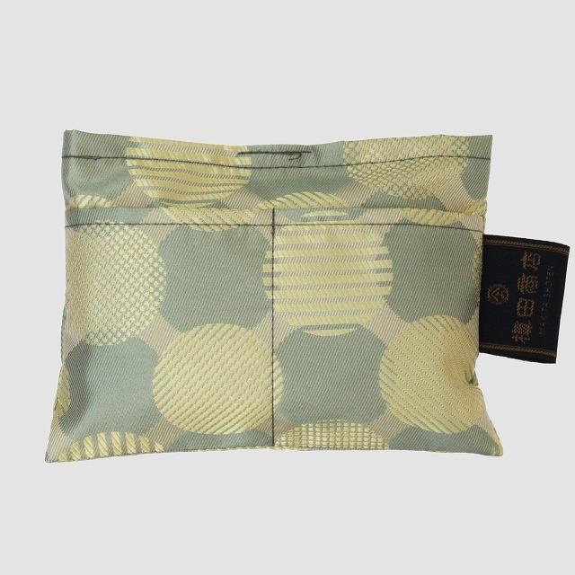 【防水・撥水エコバッグ】Umbrella cloth bag ドットコラージュ グリーン