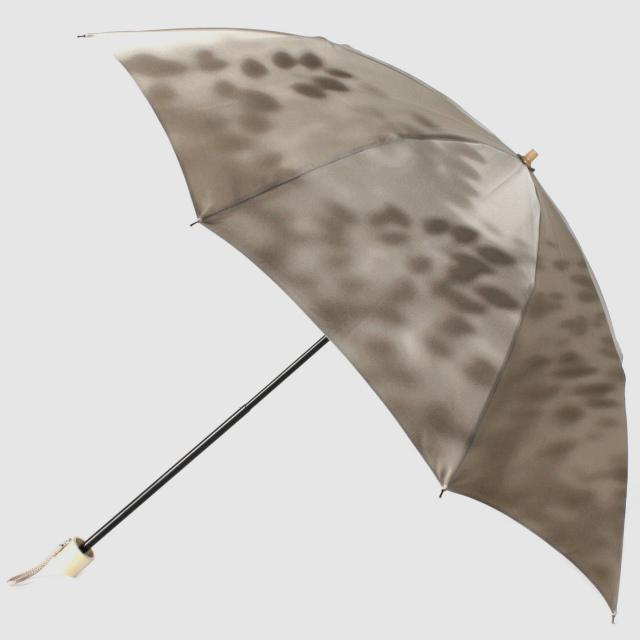 【晴雨兼用 折りたたみ傘】こもれび ブナ カーキ