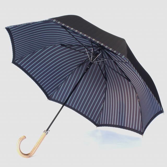 【紳士雨傘】Tie Plain×Stripe NAVY