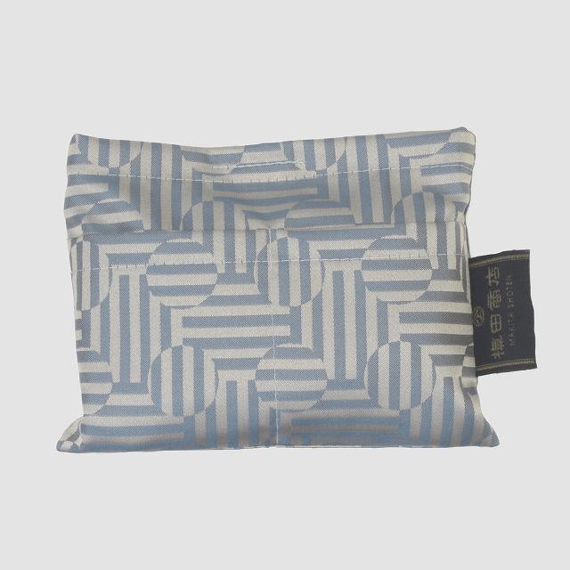 【防水・撥水エコバッグ】Umbrella cloth bag サークルライン ブルー