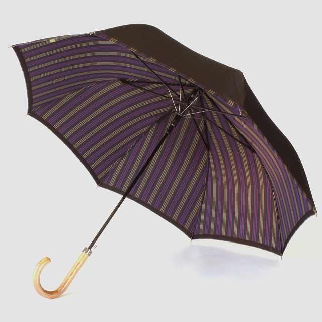 【紳士雨傘】Tie Plain×Stripe BROWN