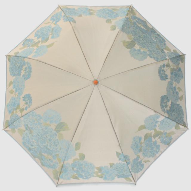 【晴雨兼用折りたたみ傘】絵おり  紫陽花
