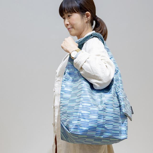 【防水・撥水エコバッグ】Umbrella cloth bag 枝 ブルー