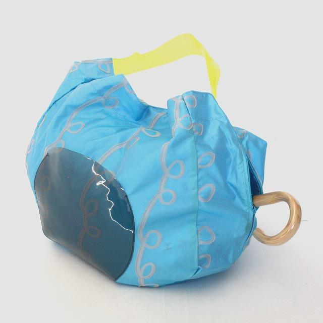 fusion tote bag GURUGURU 水色×ピンク