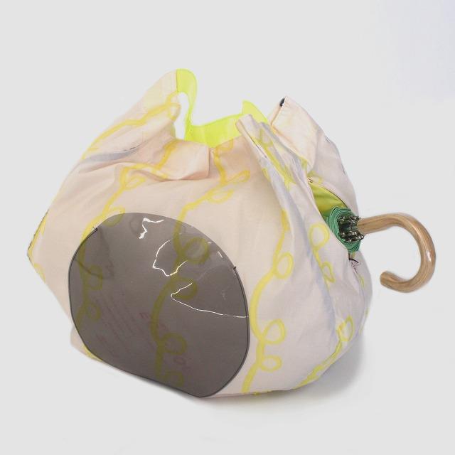 fusion tote bag GURUGURU ピンク×黄色