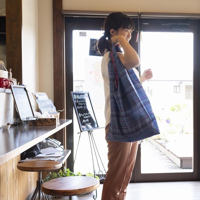 【防水・撥水エコバッグ】tute(テューテ) ムラサキ:大