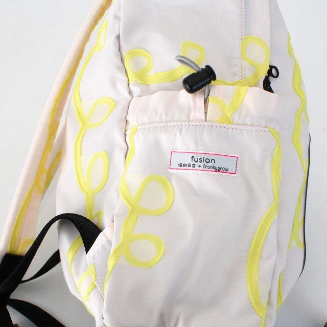 fusion back pack GURUGURU ピンク×黄色