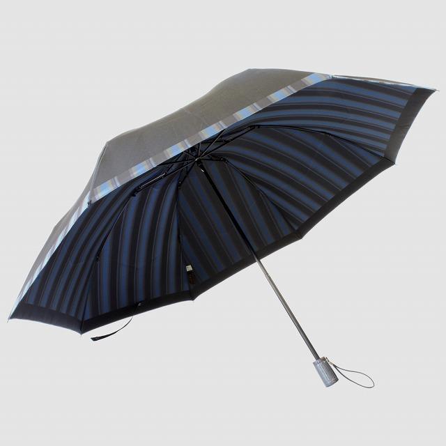 【紳士折りたたみ雨傘】Tie Plain×Stripe D・NAVY