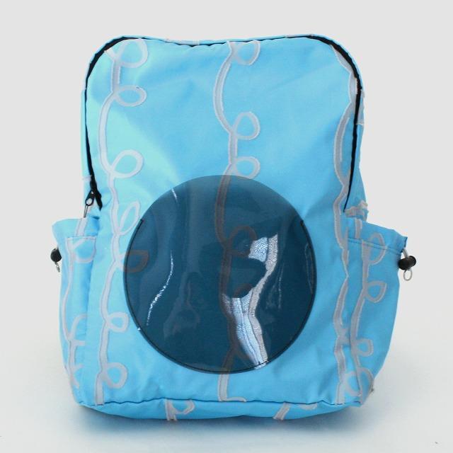 fusion back pack GURUGURU 水色×ピンク