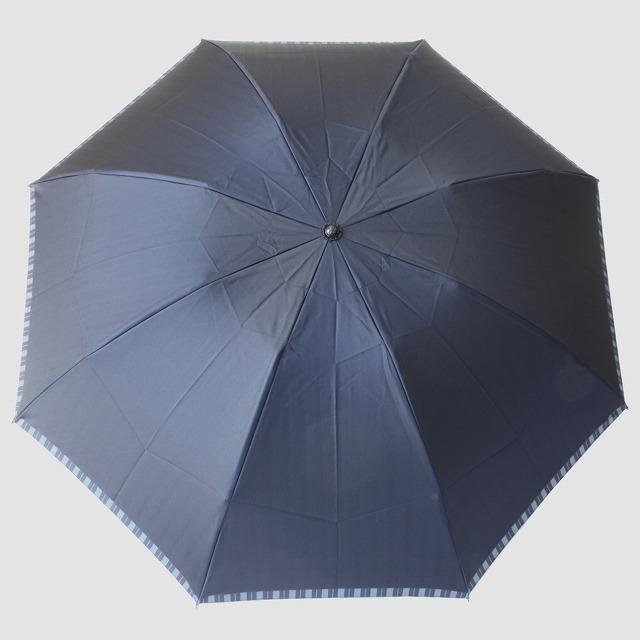【紳士折りたたみ雨傘】Tie Plain×Stripe NAVY