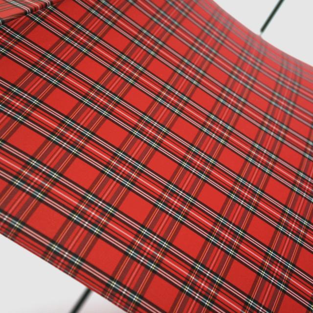 【雨傘】レトロチェック タータン:赤