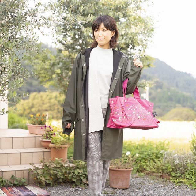 *NEW*【防水・撥水エコバッグ】Lunch Tote フライングフラワー:ピンク