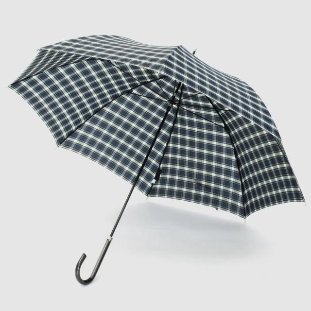 【雨傘】レトロチェック タータン:ネイビー×ホワイト
