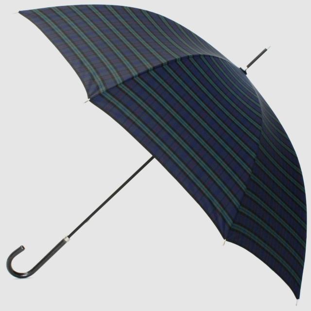 【雨傘】レトロチェック タータン:ダークグリン