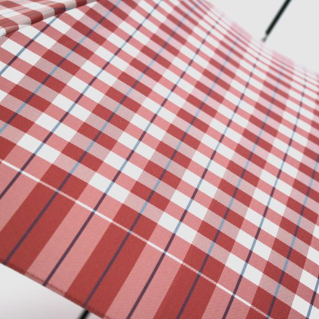 【雨傘】レトロチェック ギンガム風:ピンク