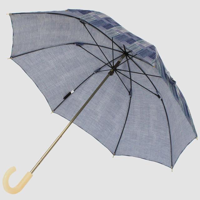 *NEW*【晴雨兼用 ショート傘】エヌクール ブロックカット(グレー)