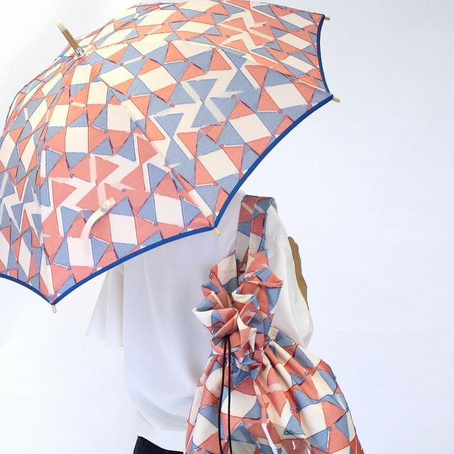 【晴雨兼用ショート傘】fusion RIBBON ピンク