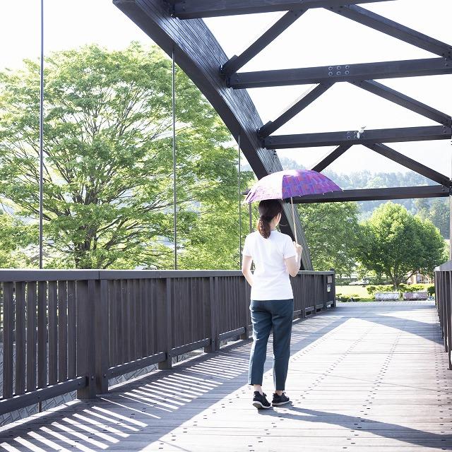 *NEW*【晴雨兼用 ショート傘】エヌクール ブロックカット(パープル)