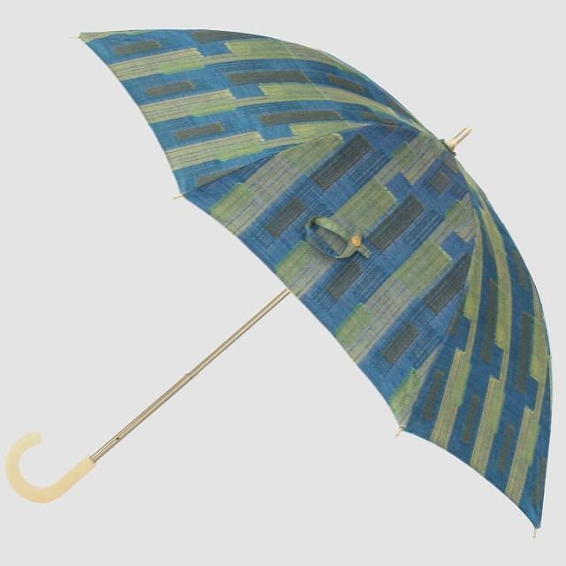 *NEW*【晴雨兼用 ショート傘】エヌクール ブロックカット(グリーン)