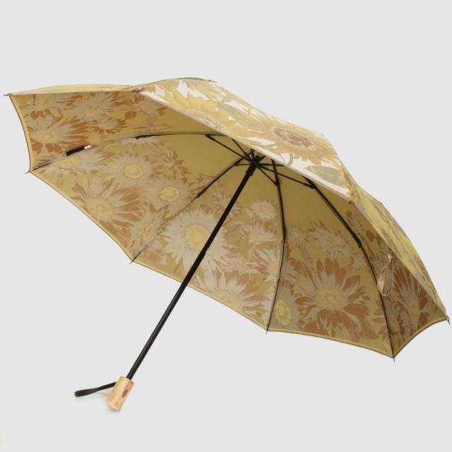 【晴雨兼用折りたたみ傘】絵おり  向日葵