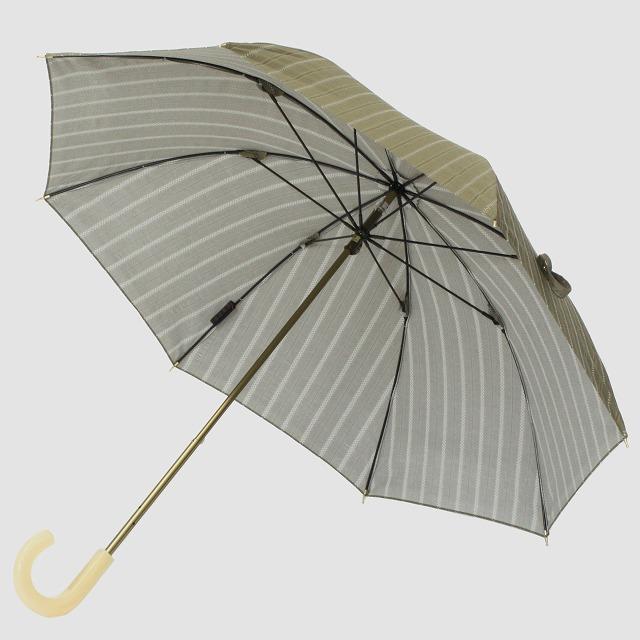 *NEW*【晴雨兼用 ショート傘】エヌクール ラメストライプ(カーキ)