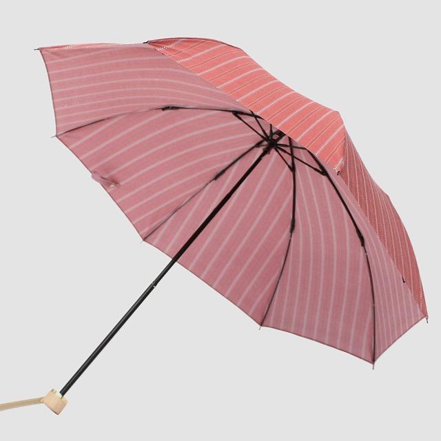 *NEW*【晴雨兼用折りたたみ】エヌクール ラメストライプ(ピンク)