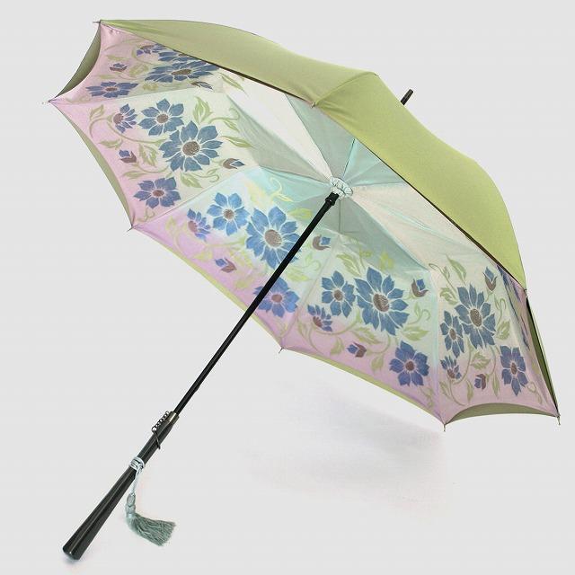 *受注生産*【晴雨兼用】1866 -kawazu- フラワーカット×モスグリーン