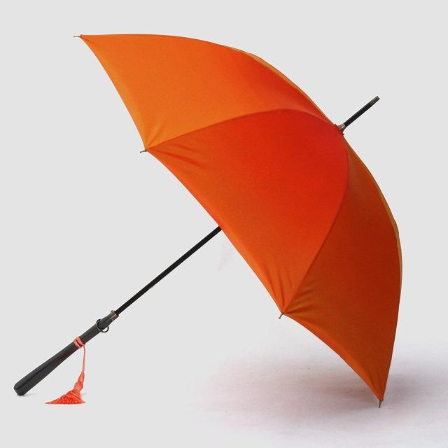 *受注生産*【晴雨兼用】1866 -kawazu- フラワーカット×オレンジ