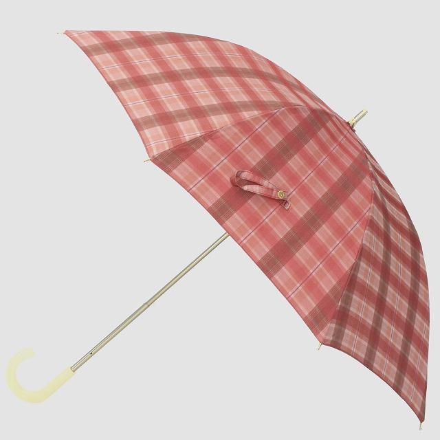 *NEW*【晴雨兼用 ショート傘】エヌクール 格子(ピンク)