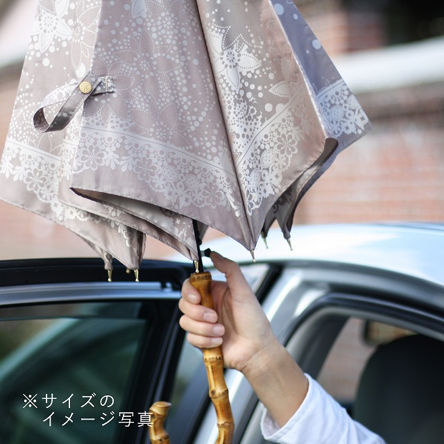 受注生産【晴雨兼用】kirie ドットフラワー(アメジスト)