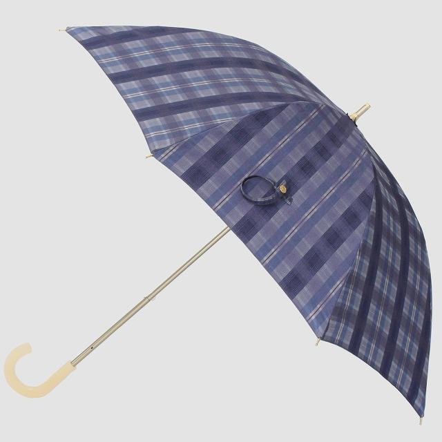 *NEW*【晴雨兼用 ショート傘】エヌクール 格子(ブルー)