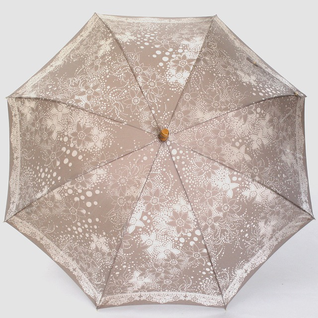 【晴雨兼用】kirie ドットフラワー(モカブラウン)