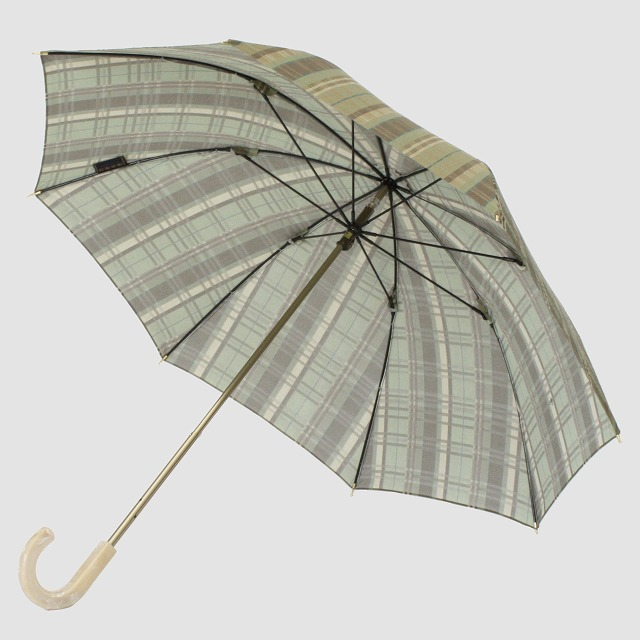 *NEW*【晴雨兼用 ショート傘】エヌクール チェック(カーキ)