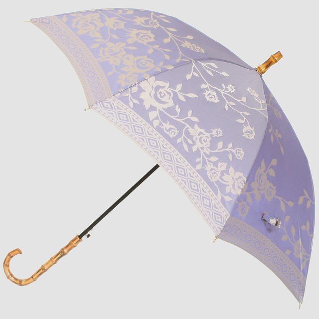 【晴雨兼用】kirie バラ(ロイヤルパープル)