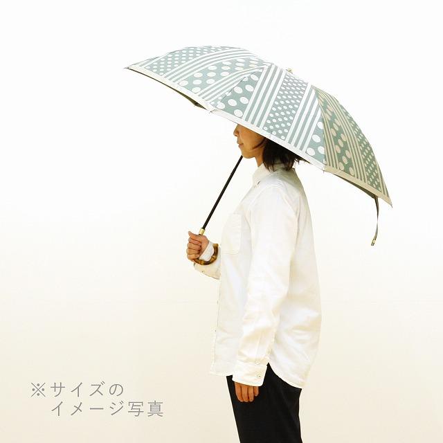 【晴雨兼用 折りたたみ傘】kirie  更紗(レイクブルー)