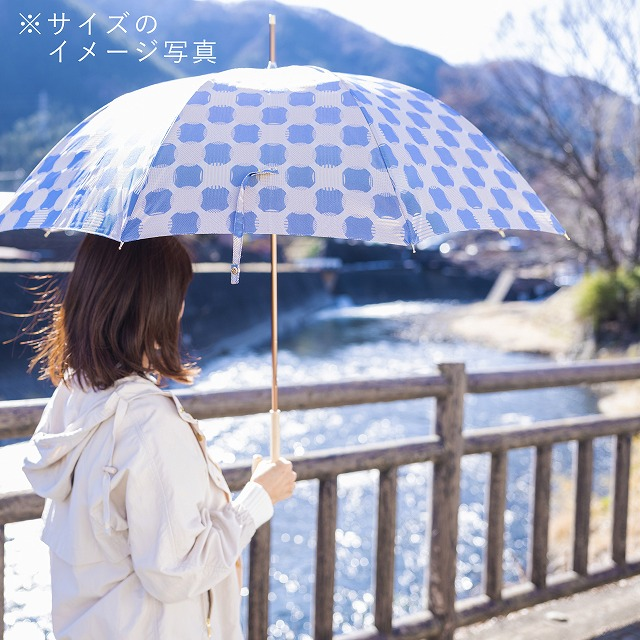 【雨傘】ノルディックジャカード ドットコラージュ ピンク