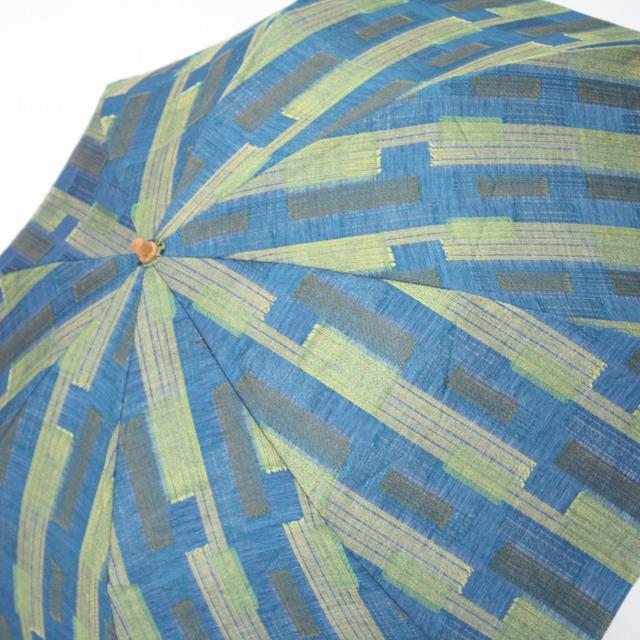 *NEW*【晴雨兼用折りたたみ】エヌクール ブロックカット(グリーン)