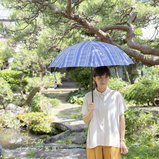 *NEW*【晴雨兼用折りたたみ】エヌクール ラメストライプ(ブルー)