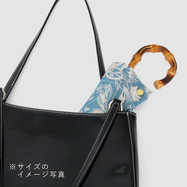 【晴雨兼用 折りたたみ傘】kirie  ドットフラワー(アメジスト)