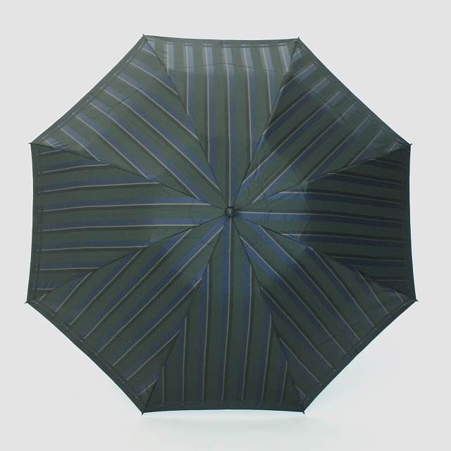【紳士折りたたみ雨傘】Tie Stripe×Plain GREEN×NAVY
