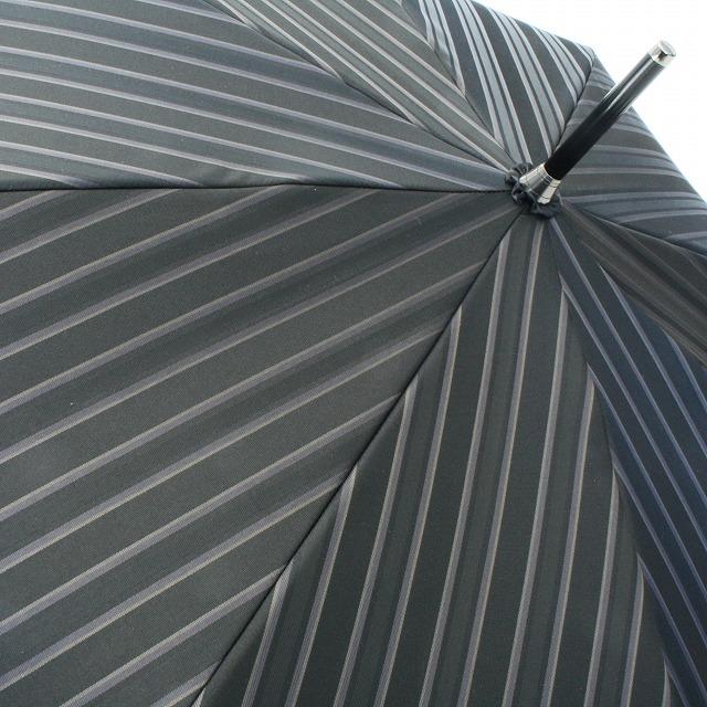 【紳士折りたたみ雨傘】Tie Stripe×Plain BLACK