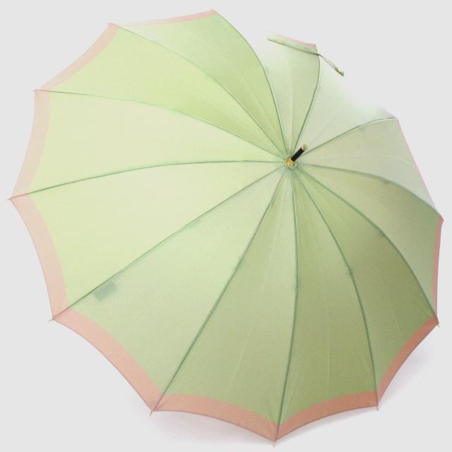 【晴雨兼用】SCENE  グリーン×ピンク