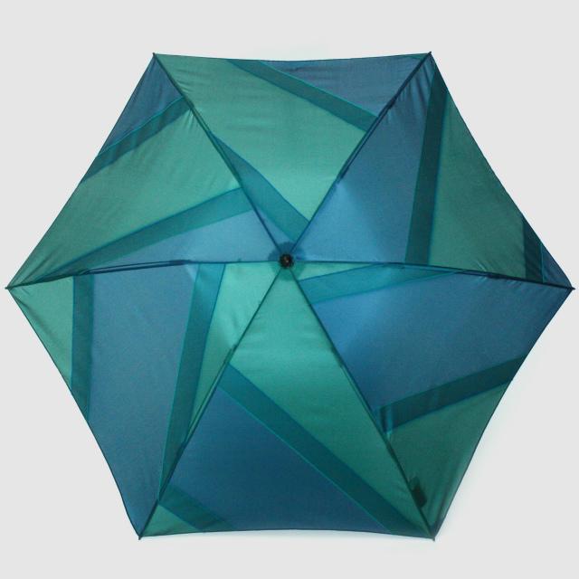 【晴雨兼用軽量】repel. Portable umbrella -Green Peacock-