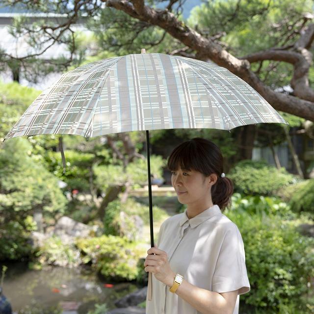 *NEW*【晴雨兼用折りたたみ】エヌクール チェック(カーキ)
