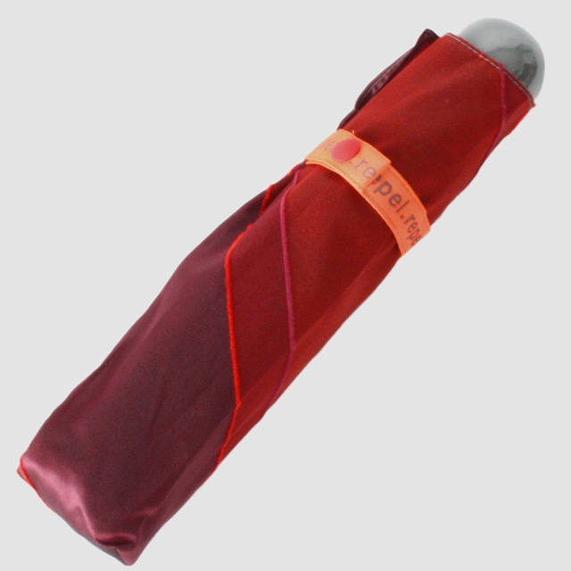 【晴雨兼用軽量】repel. Portable umbrella -Red Bordeaux-