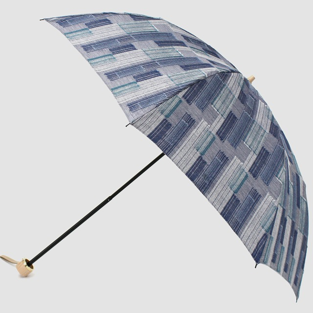 *NEW*【晴雨兼用折りたたみ】エヌクール ブロックカット(グレー)