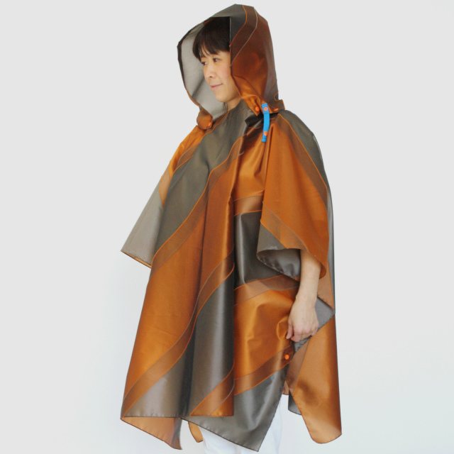 repel. Rain poncho -Orange Khaki-
