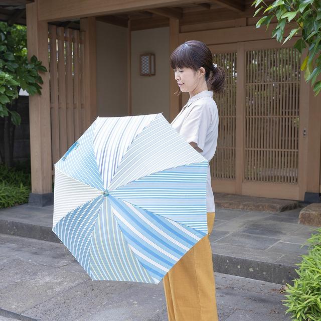 【晴雨兼用 ショート傘】stripe pattern6
