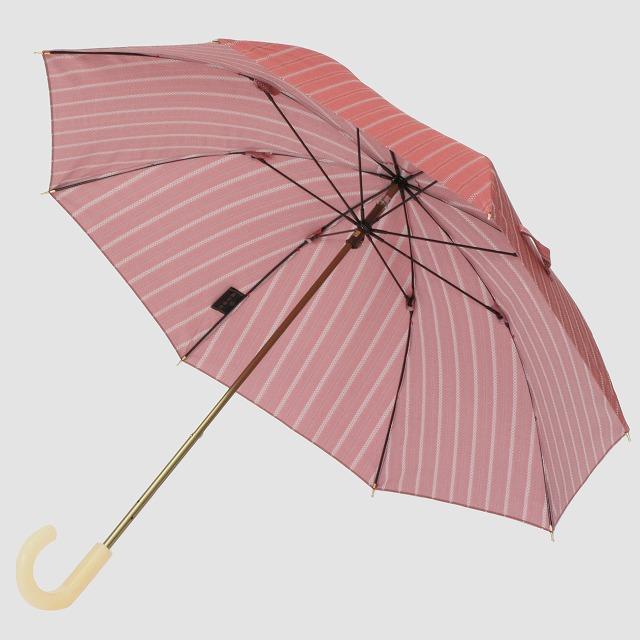 *NEW*【晴雨兼用 ショート傘】エヌクール ラメストライプ(ピンク)