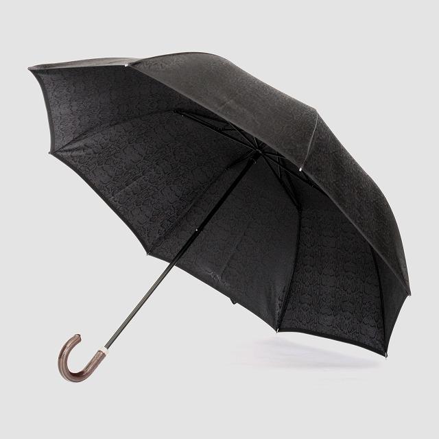 【紳士晴雨兼用 折りたたみ傘】monotone  パイソン